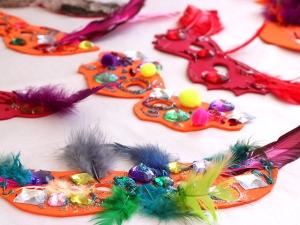 Purim-Masks-Drying